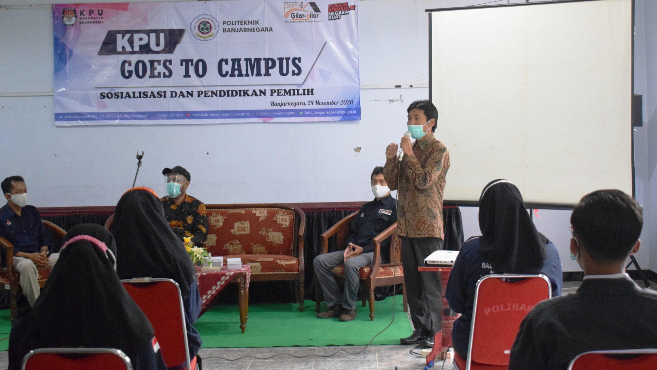 Gelar Pendidikan Politik, KPU Banjarnegara Goes To Campus Polibara